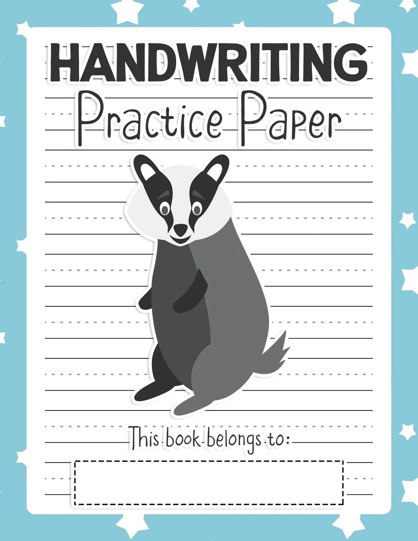Handwriting Practice Paper Notebook