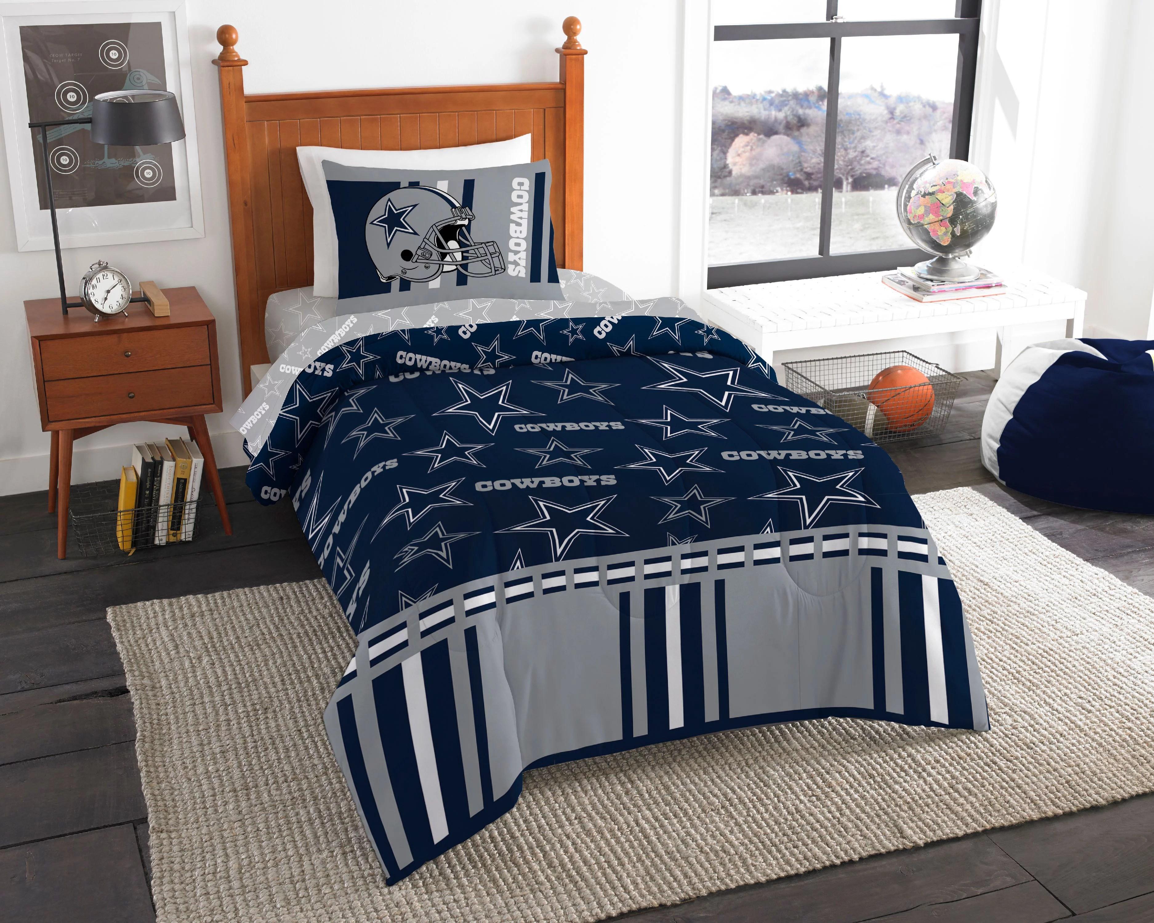 Dallas Cowboys Comforter Set Nfl 4pc Bed Bag Sheets Twin