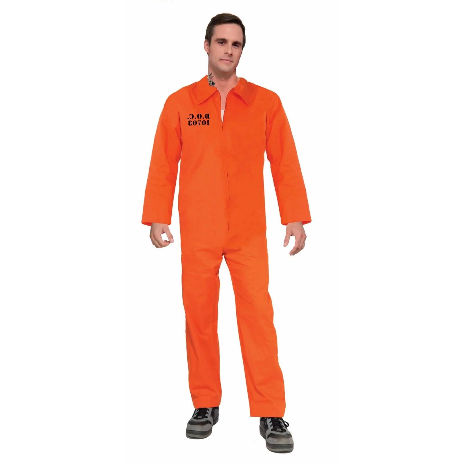 Halloween Prisoner Orange Jumpsuit Adult Costume Walmartcom