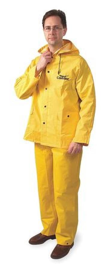 condor 6al66 3 piece rainsuit w detach hood yellow 3xl