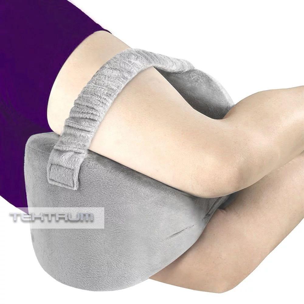 tektrum orthopedic knee pillow for sciatica relief back pain leg pain hip pain joint pain pregnancy spine alignment memory foam wedge contour