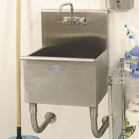 a line wall mounted laundry room utility sink