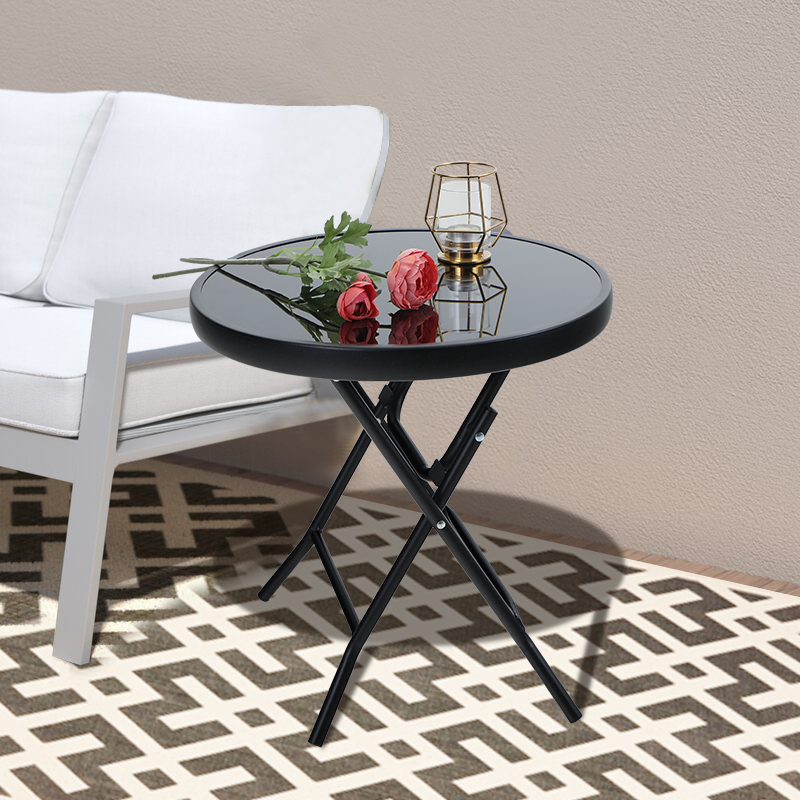 mf studio mf studio outdoor side table round folding end coffee table dia17 7 with iron frame multiple colors from walmart accuweather