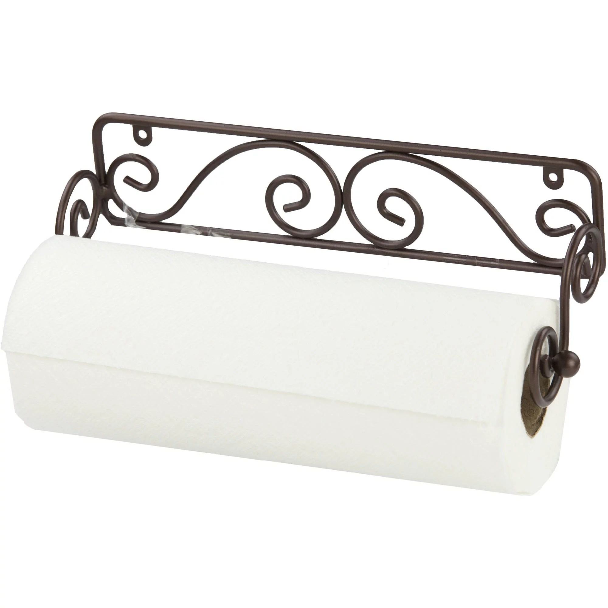 home basics scroll collection steel wall mounted paper towel holder bronze walmart com