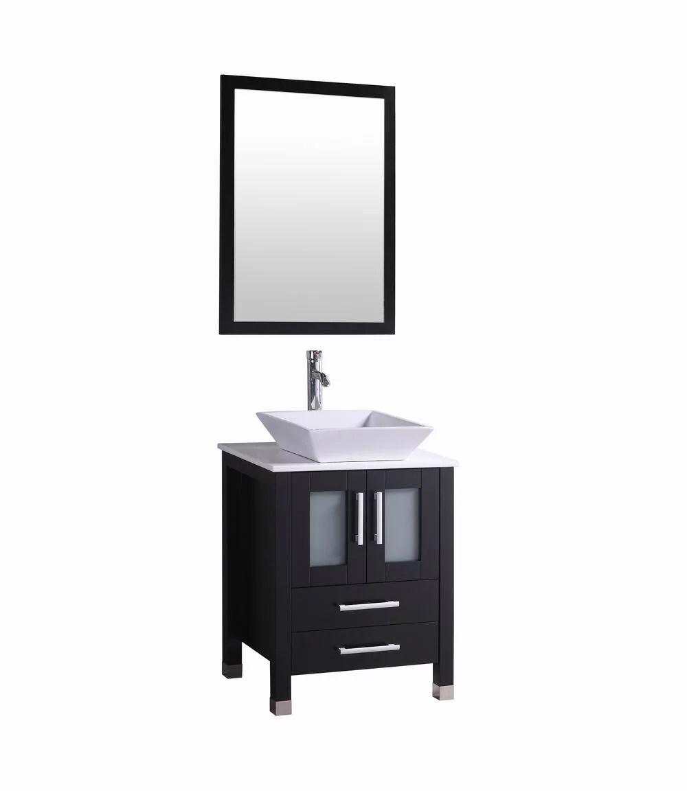 Shop freestanding bathroom vanities from traditional and modern styles. Audra 24 Inch Modern Espresso Bathroom Vanity W Vessel Sink Walmart Com Walmart Com