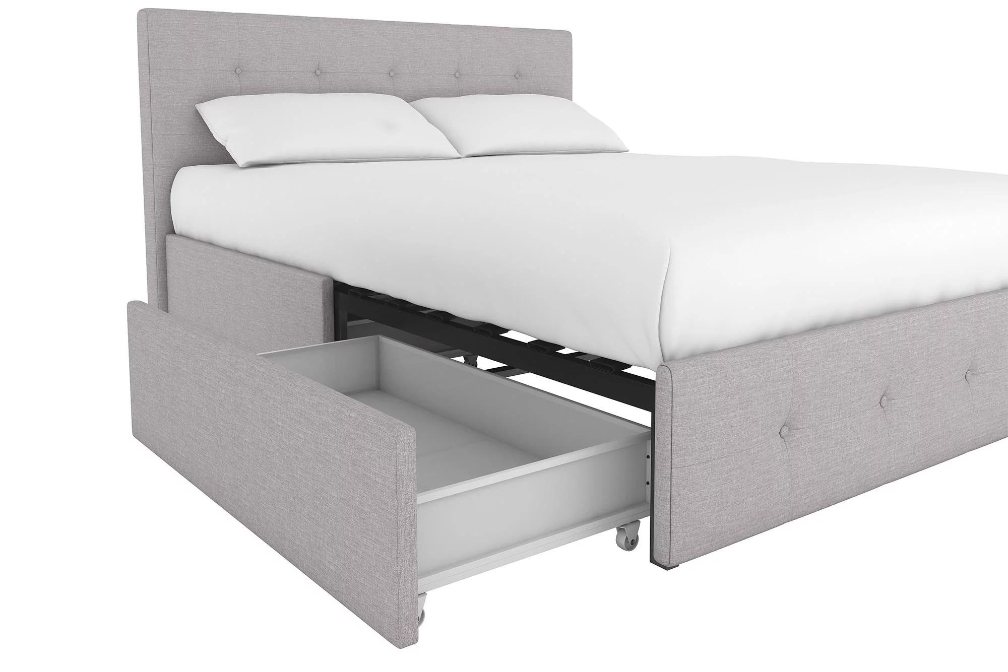 DHP Rose Upholstered Platform Bed With Under Bed Storage