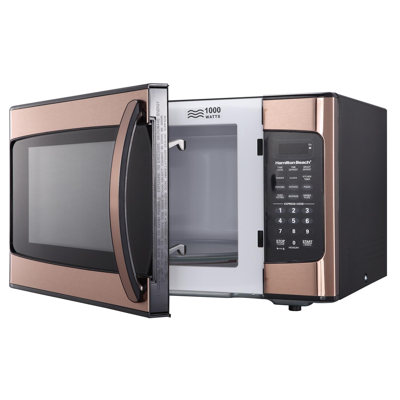 hamilton beach 1 1 cu ft microwave oven copper