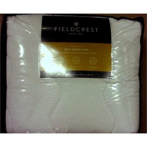 fieldcrest luxury plush mattress pad 22 mattress depth full 100 polyester