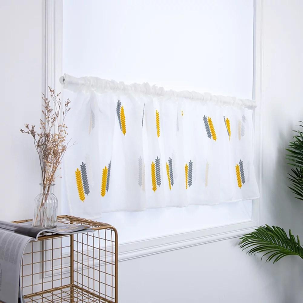 rdeghly rideau court de rideau en armoire de cuisine de chambre a coucher avec la broderie pour la decoration rideau court rideau en armoire