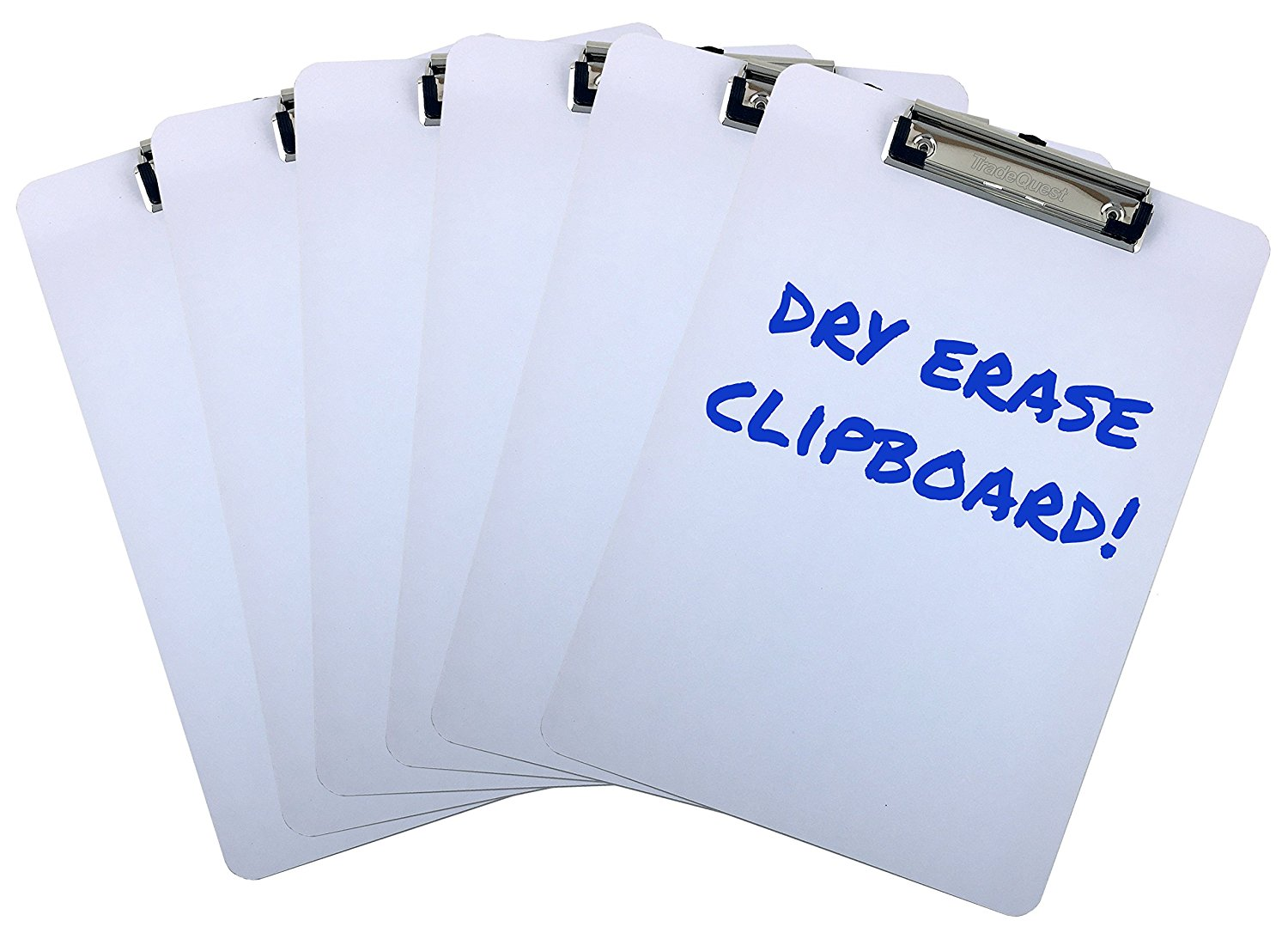 clipboards dry erase surface 9 x 12 5 letter size low profile clip whiteboard pack of 6