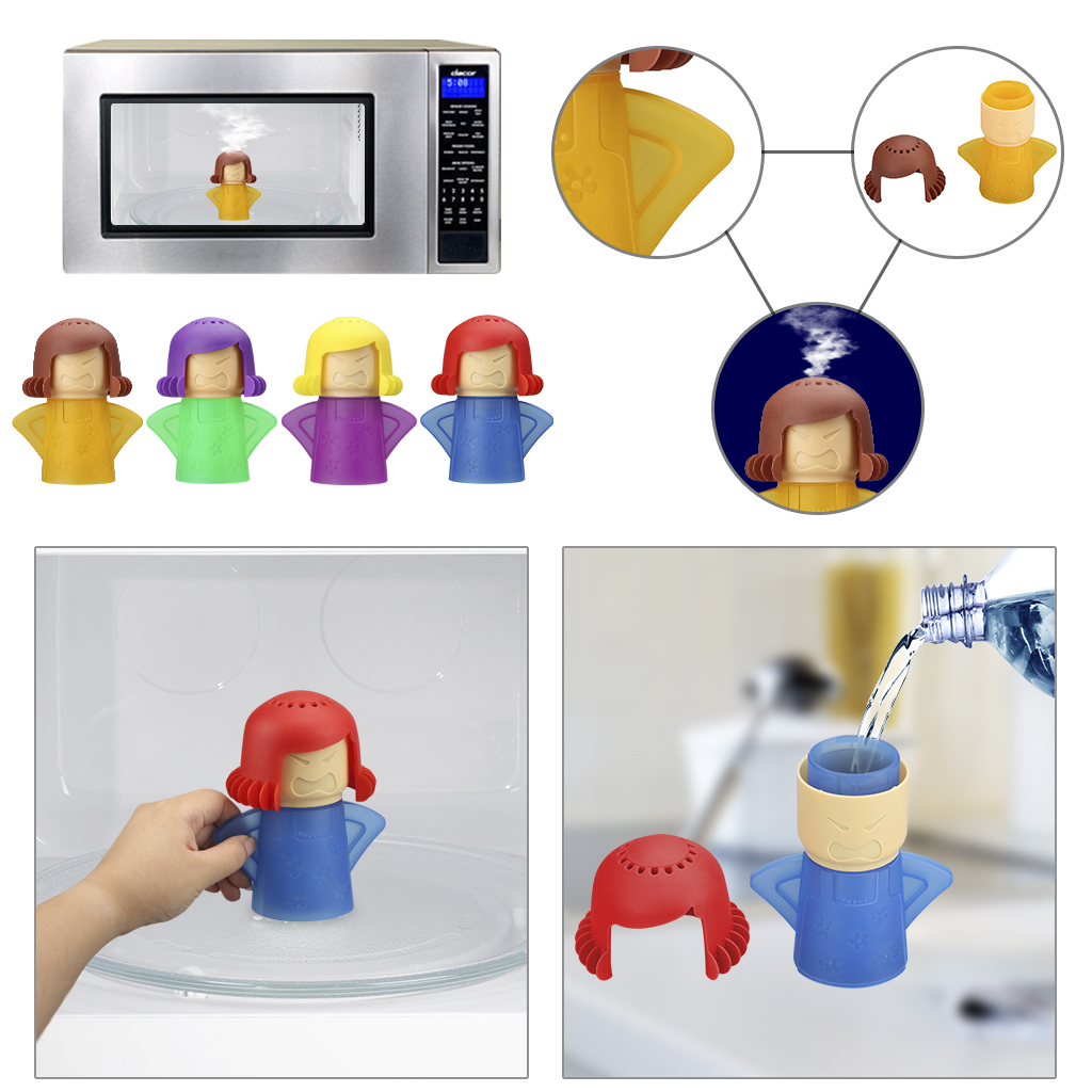 microwave cleaner angry mama microwave oven steam cleaner easily cleans the crud in minutes for home office kitchens red walmart com