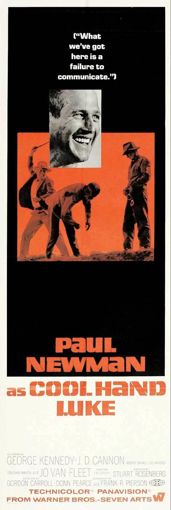 cool hand luke 1967 14x36 movie poster