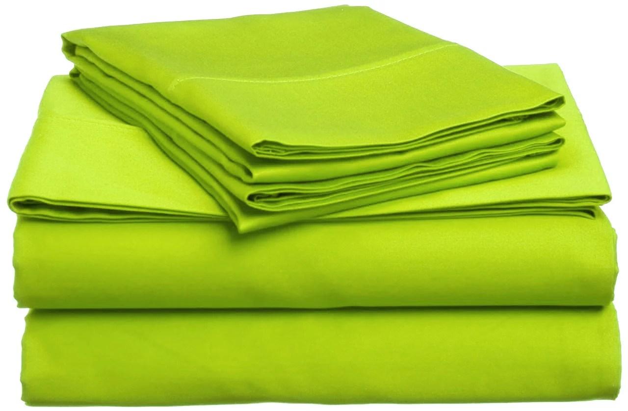 lime green queen size microfiber sheet sets two 2 pillowcase 12 drop