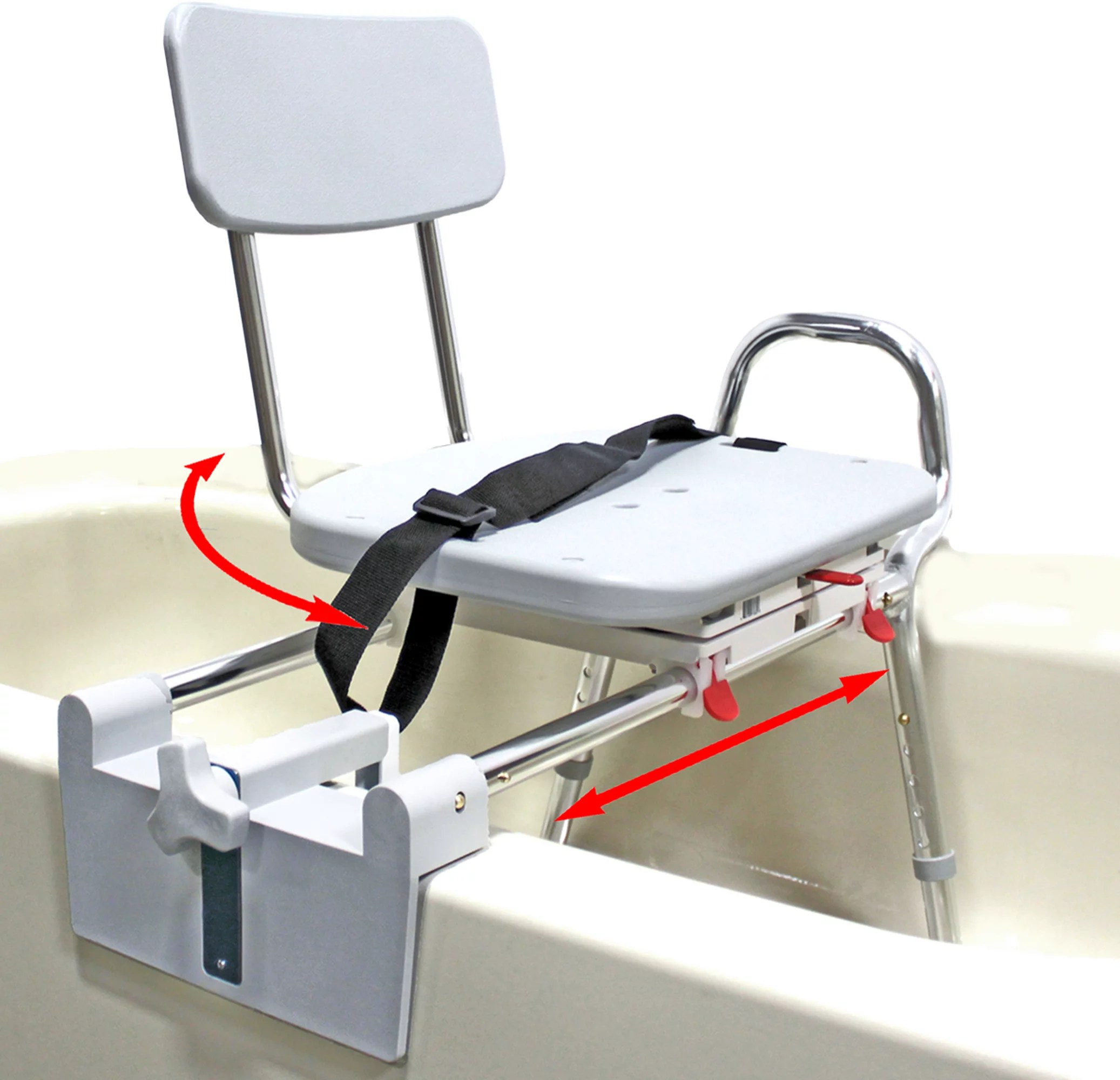 Tub Mount Swivel Sliding Bath Transfer Bench 77762