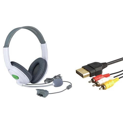 Xbox 360 Headset With Mic By Insten Audio Video AV Cable