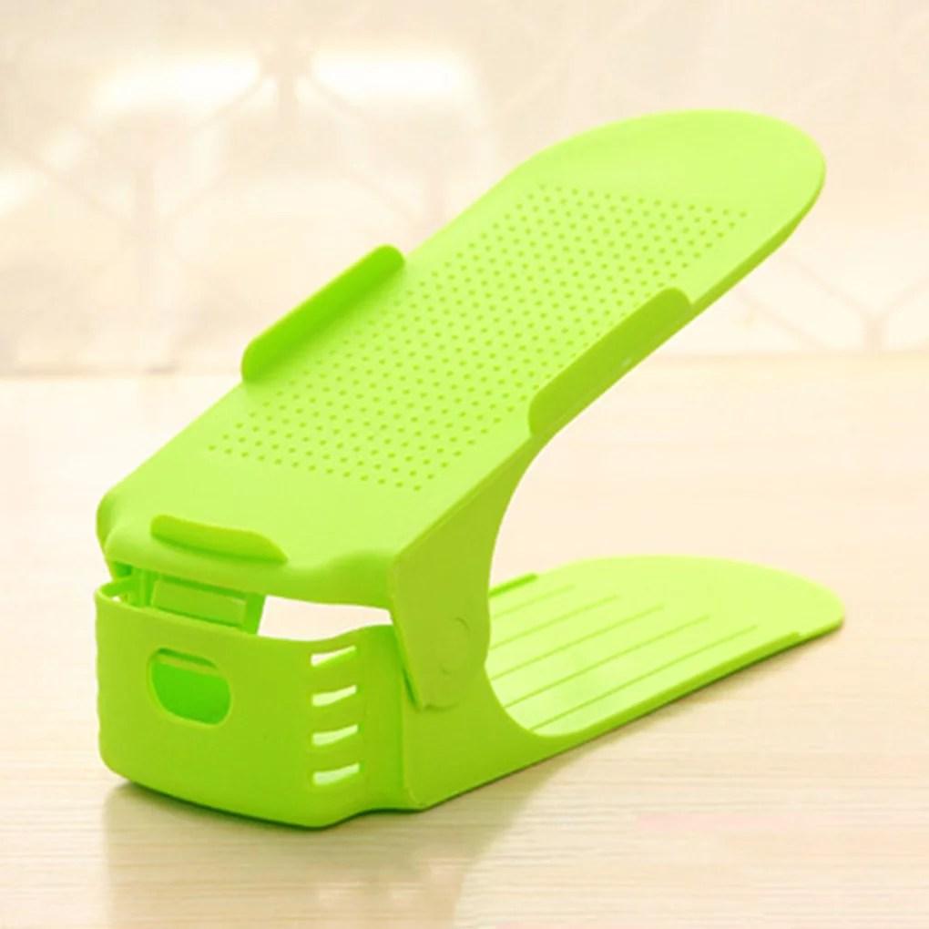 Homeholiday 8pcs Plastic Shoe Slots Space Saver Adjustable ... on Closet Space Savers Walmart  id=28635