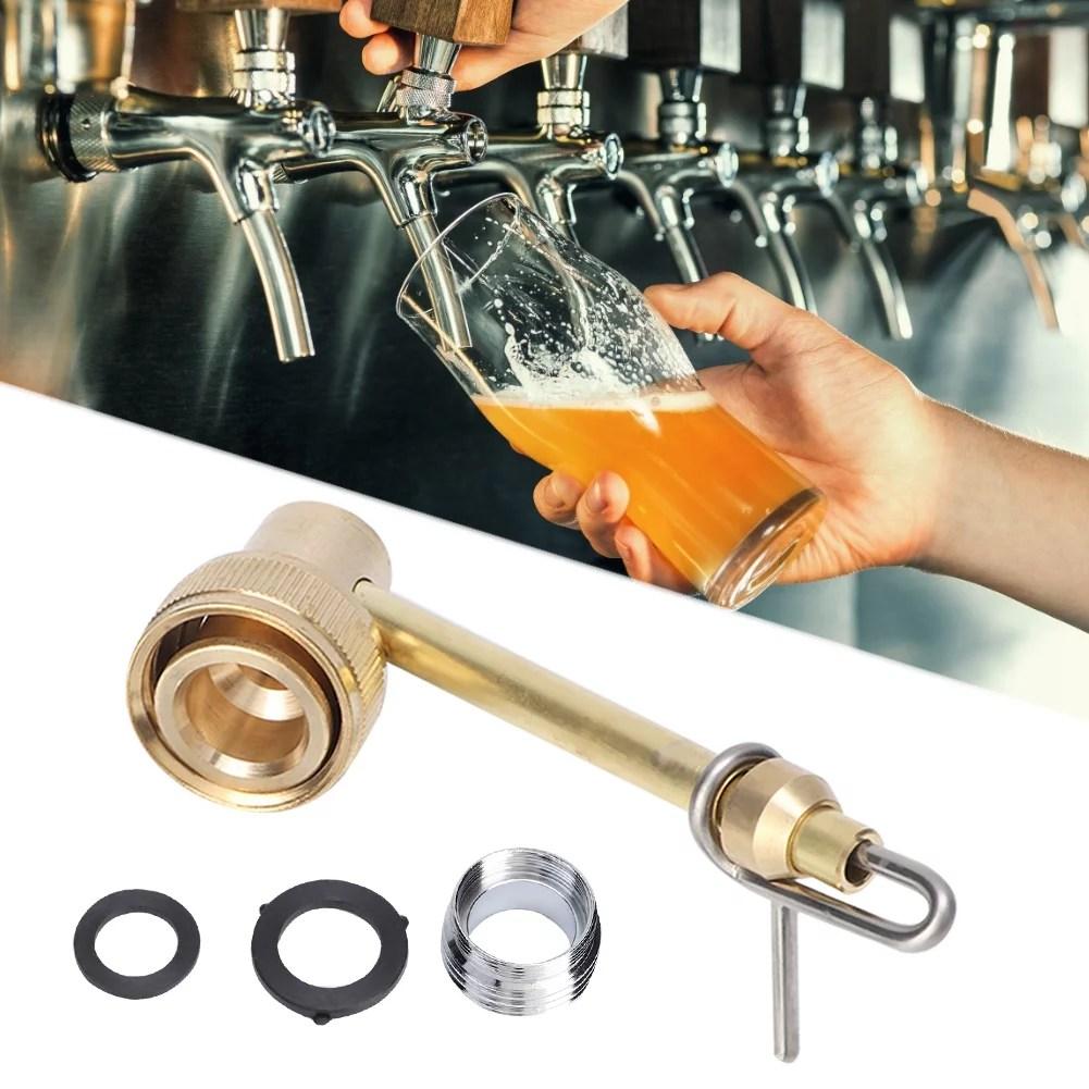 tebru beer jet bottle washer homebrew brass beer jet bottle washer sink faucet adapter faucet jet carboy