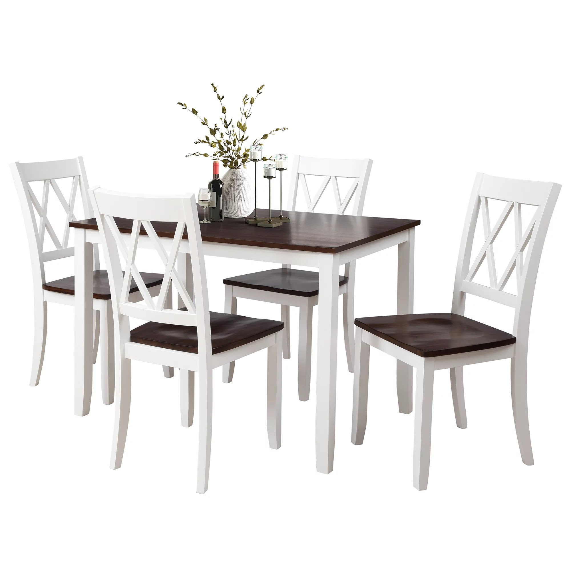 clearance dining table set with 4 chairs 5 piece wooden on dining room sets on clearance id=14769