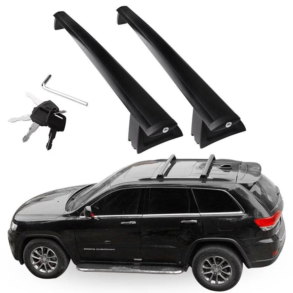 yitamotor 2pcs roof cross bars for 2011 2019 jeep grand cherokee black walmart com