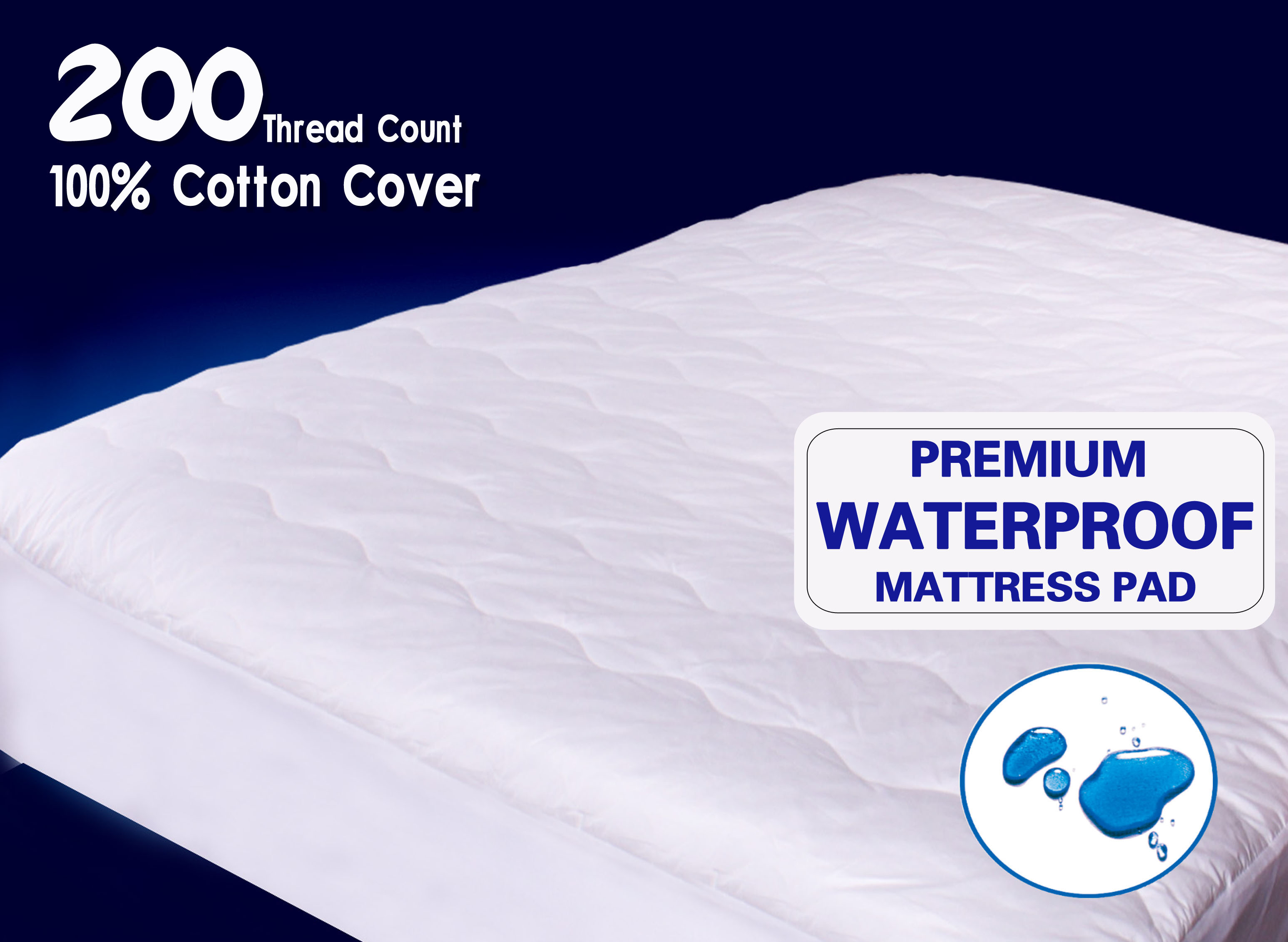 quiet comfort twin waterproof mattress pad newpoint international inc
