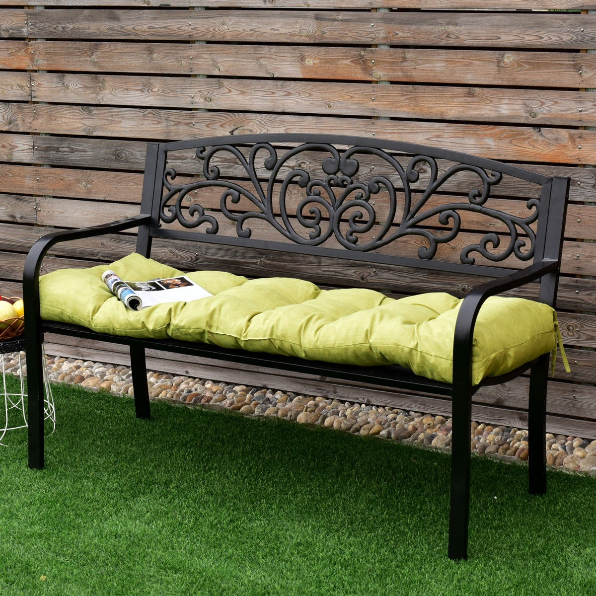 51 Quot Indoor Outdoor Swing Glider Sit Bench Cushion Chair