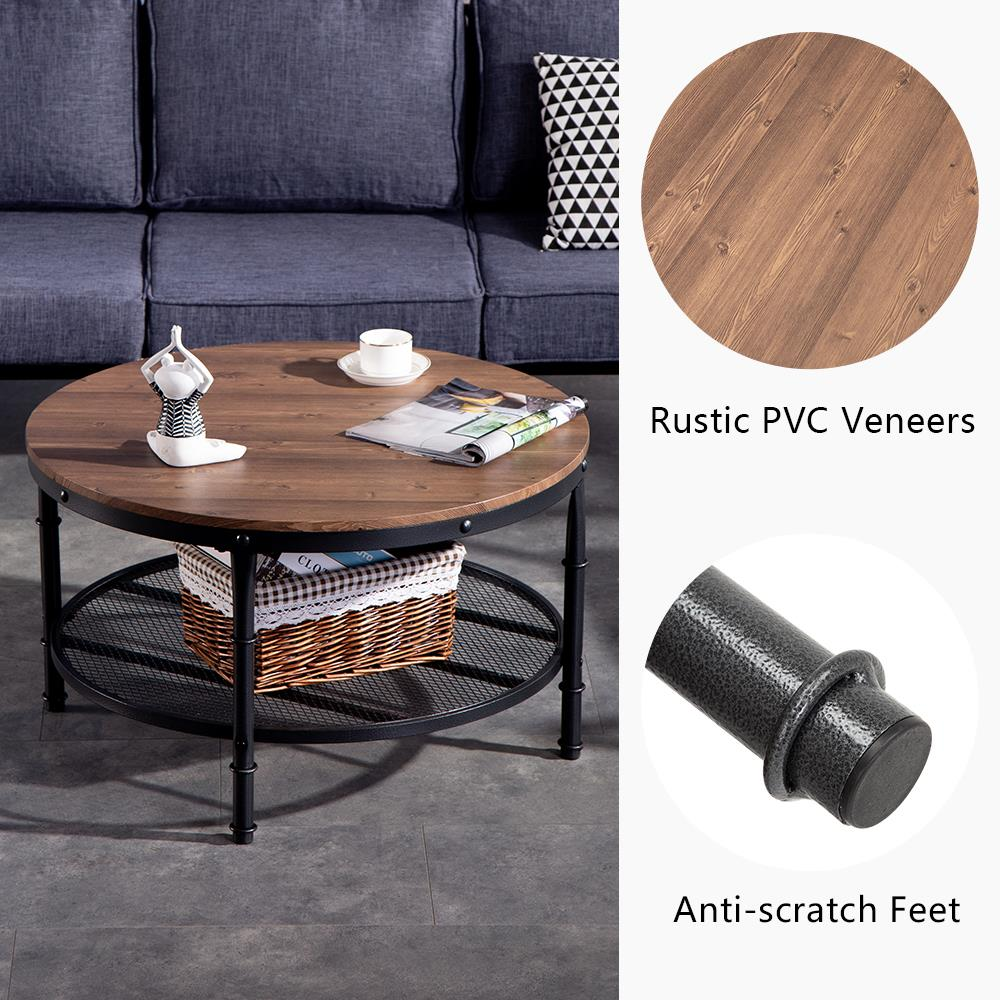 tier vintage round coffee table