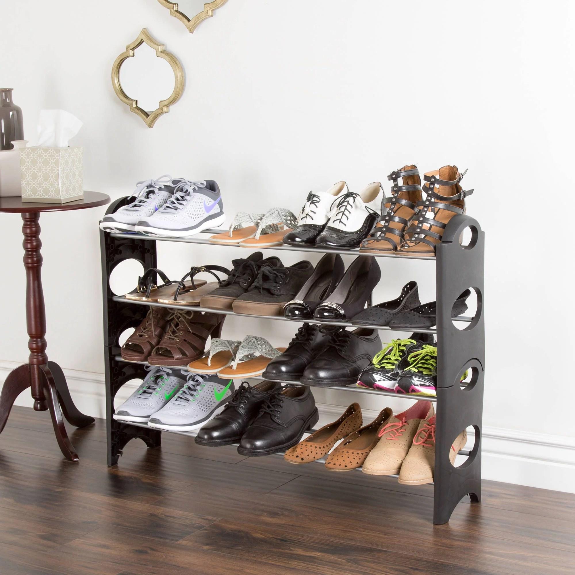 Shoe Rack, Stackable Storage Bench ? Closet, Bathroom ... on Closet Space Savers Walmart  id=62193