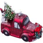 Raz Imports Christmas Car And Truck Glass Ornaments Set Of 2 Red And Green Walmart Com Walmart Com