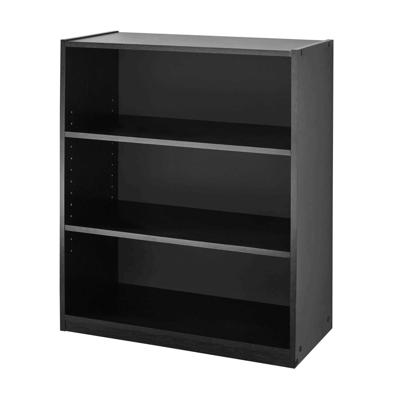mainstays 31 3 shelf bookcase black walmart com