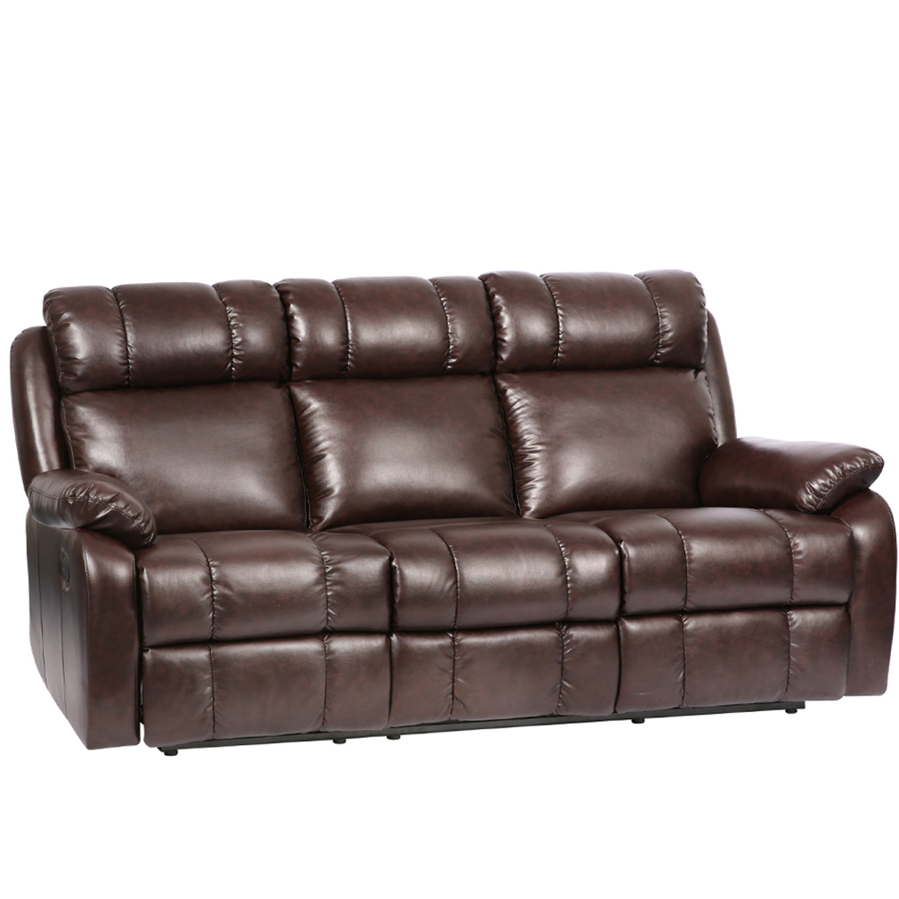 fdw reclining sofa in faux leather