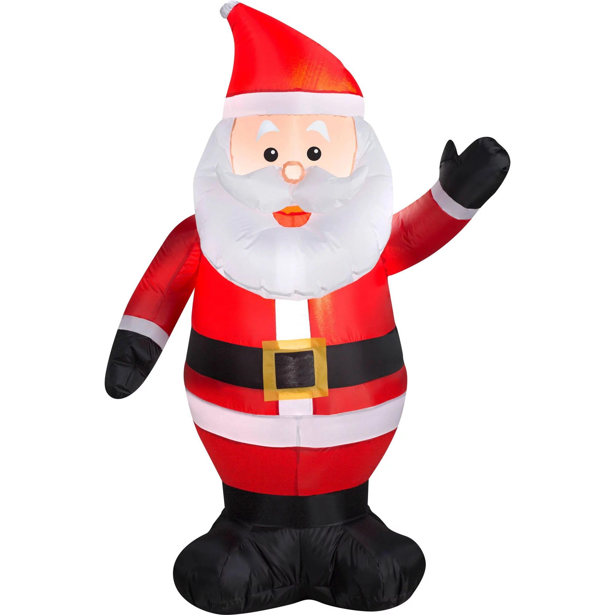 Gemmy Airblown Christmas Inflatables Waving Santa 4