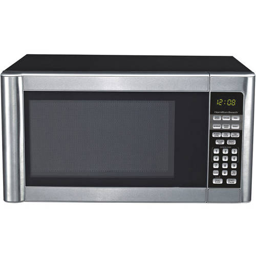 hamilton beach 1 1 cu ft stainless steel microwave oven walmart com
