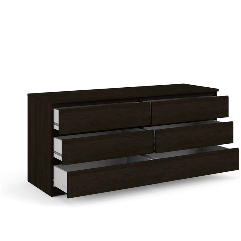 atlin designs 6 drawer double dresser in coffee walmart com