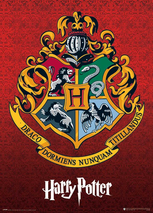 harry potter special edition metallic movie poster print hogwarts crest size 20 x 28