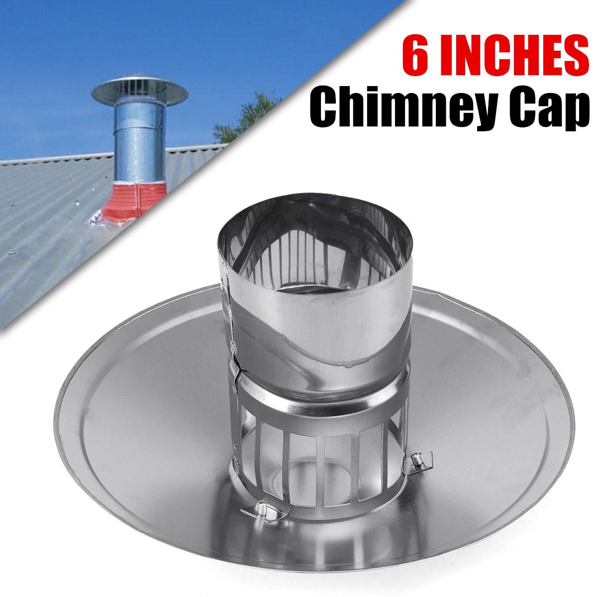 6inch stove pipe chimney cap galvanized iron mushroom shaped roof multi flue ventilation us roof weatherproof smoke stack cap walmart com