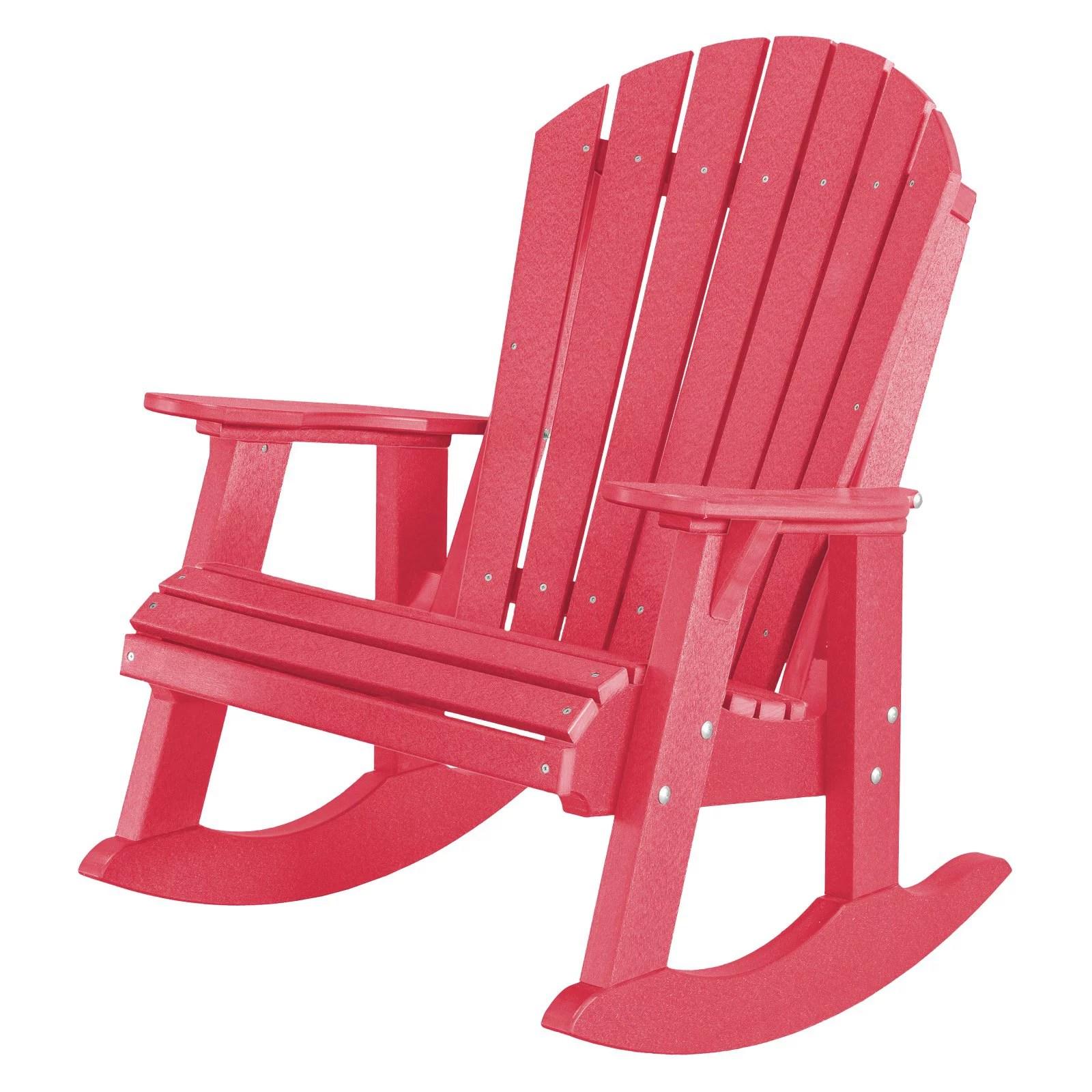 wildridge heritage high fan back plastic patio rocker chair