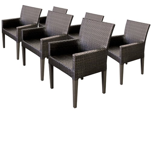 tk classics belle patio dining chair with cushion set of 6