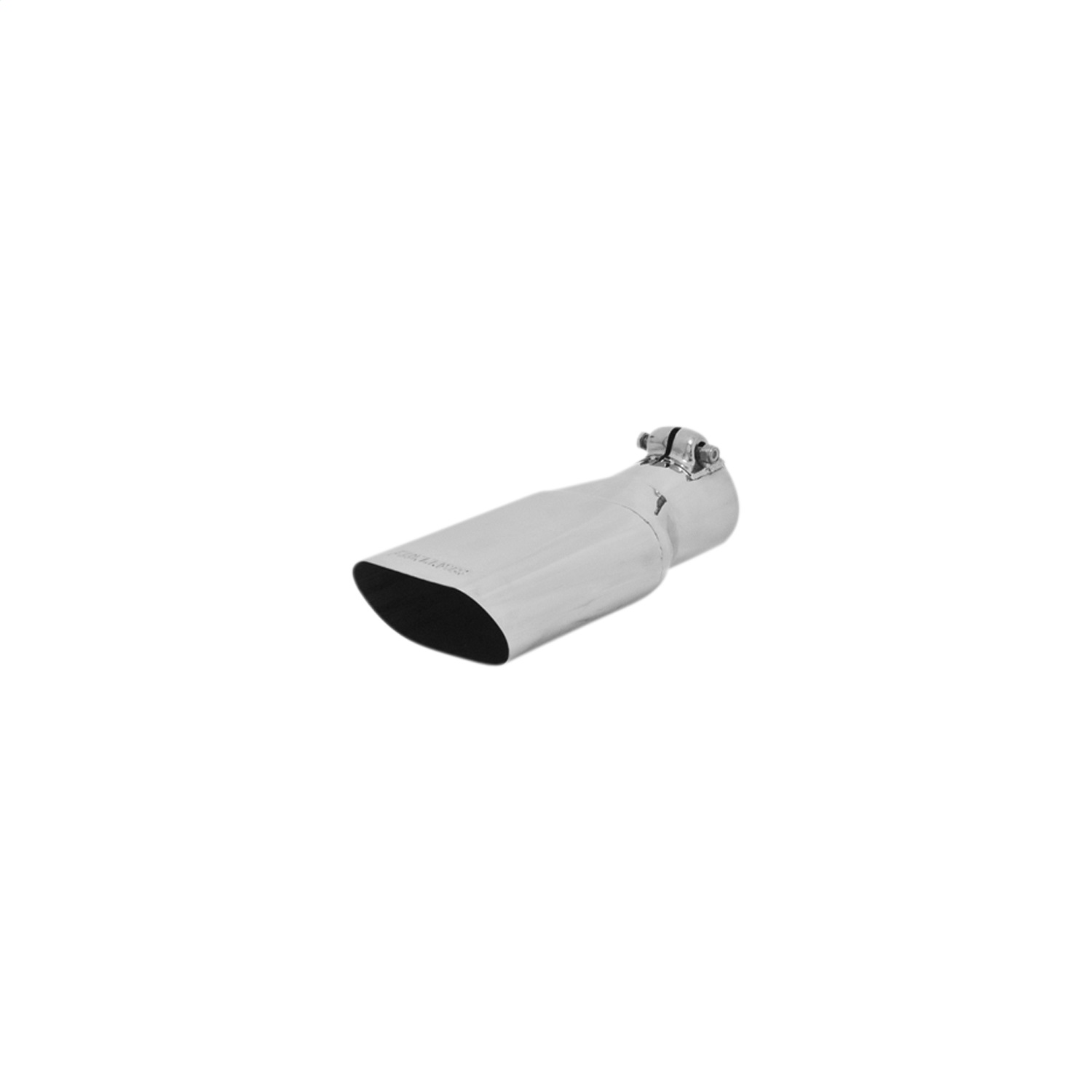 flowmaster 15385 exhaust tip 4 25 x 2 25 in oval polished ss fits 2 50 in tubing clamp on