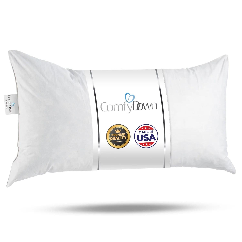 comfydown 95 feather 5 down 14 x 22 rectangle decorative pillow insert sham stuffer made in usa walmart com