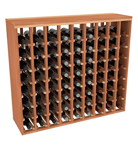 creekside 72 bottle premium table wine rack redwood by creekside exclusive 12 inch deep design with solid sides hand sanded to perfection