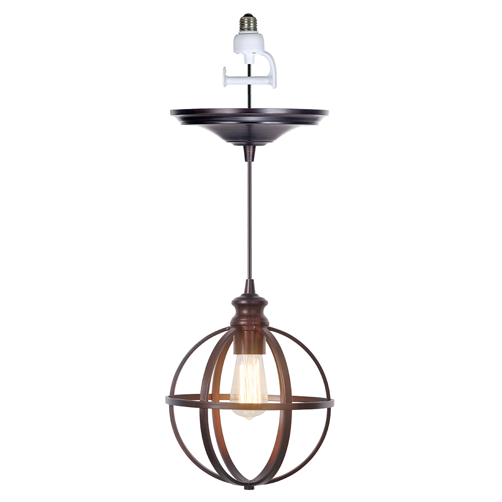 Brushed Bronze Instant Pendant Light Conversion Kit