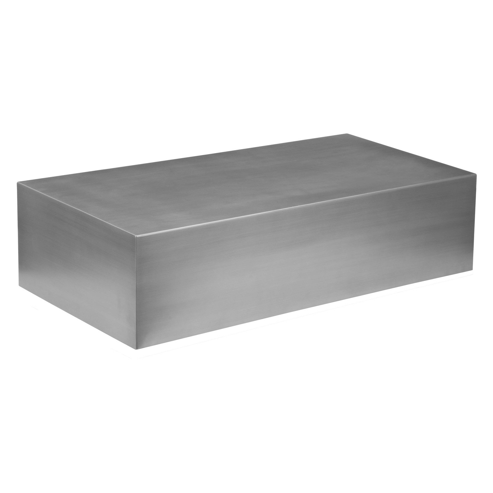 pangea home lanser brushed metal coffee table walmart com