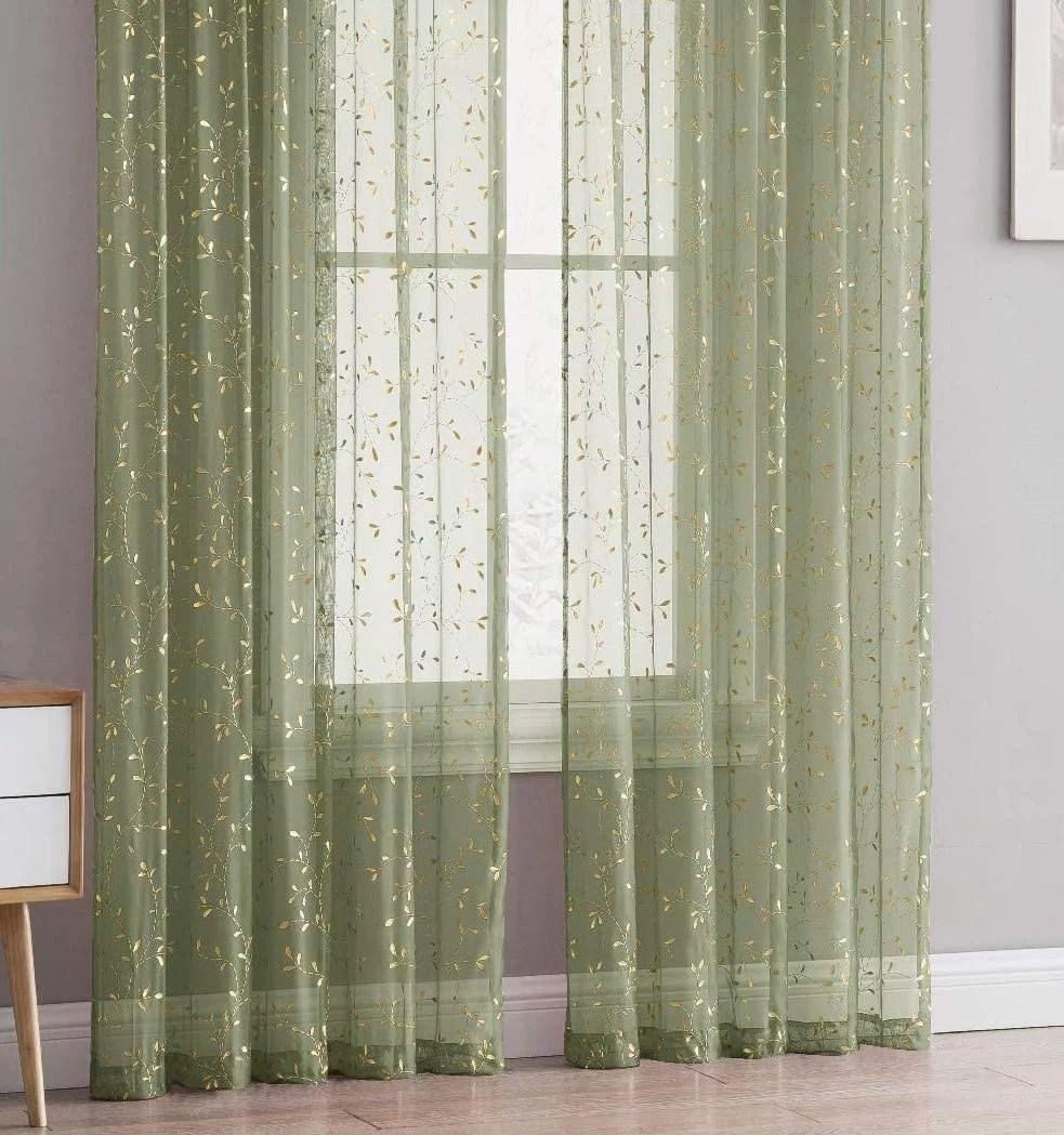 Green Walls Gold Curtains - Novocom.top
