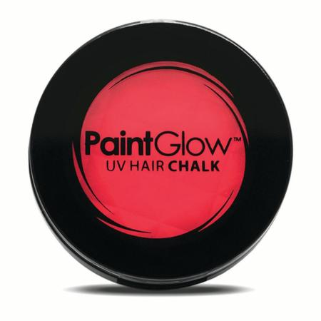 paintglow rave uv reactive 3 5g fx hair chalk w sponge applicator neon red walmart