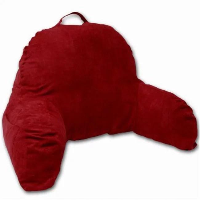 microsuede bedrest pillow red bed rest reading pillow walmart com