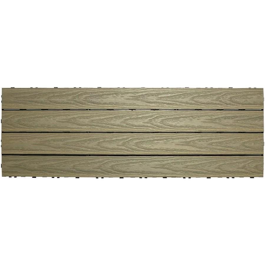 ultrashield naturale 3 x 1 quick deck outdoor composite deck tile in roman antique 15 sq ft box walmart com