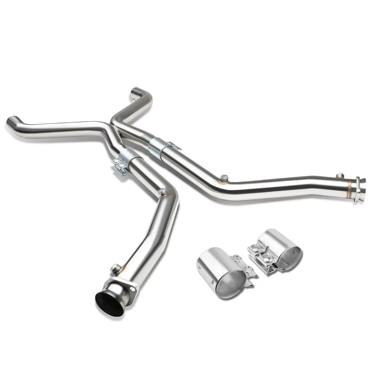 For 11 14 Ford Mustang Stainless Steel X Pipe Downpipe