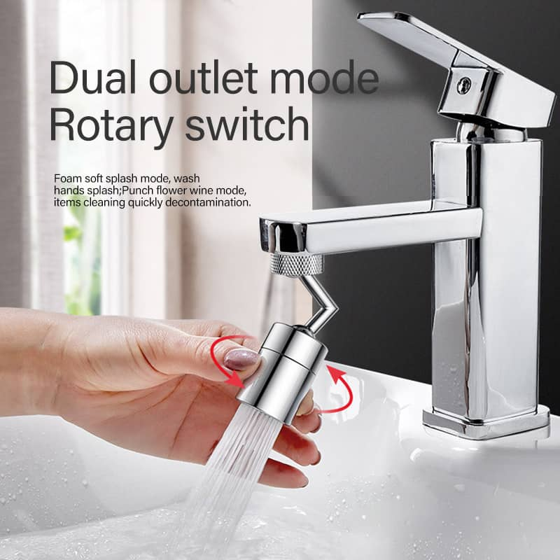 kitchen bathroom splash filter faucet 720 rotate water outlet faucet spray head adapter kitchen bubble tap head spray water saving nozzle