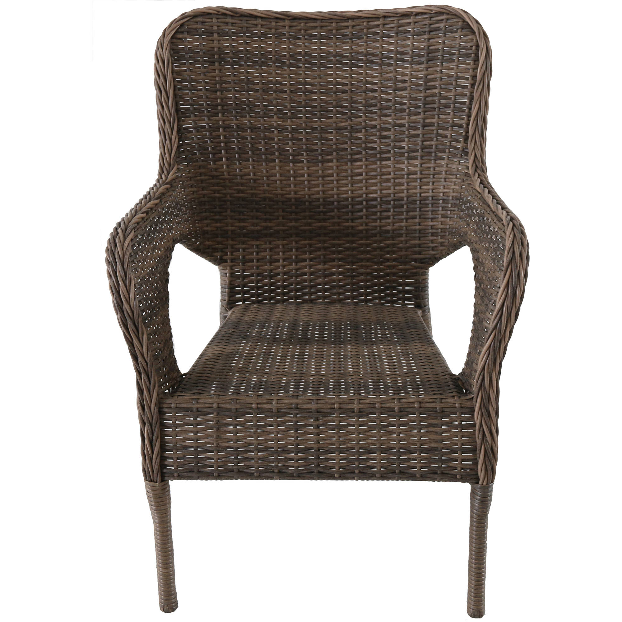 better homes and gardens camrose farmhouse mix and match stacking wicker chair brown walmart com