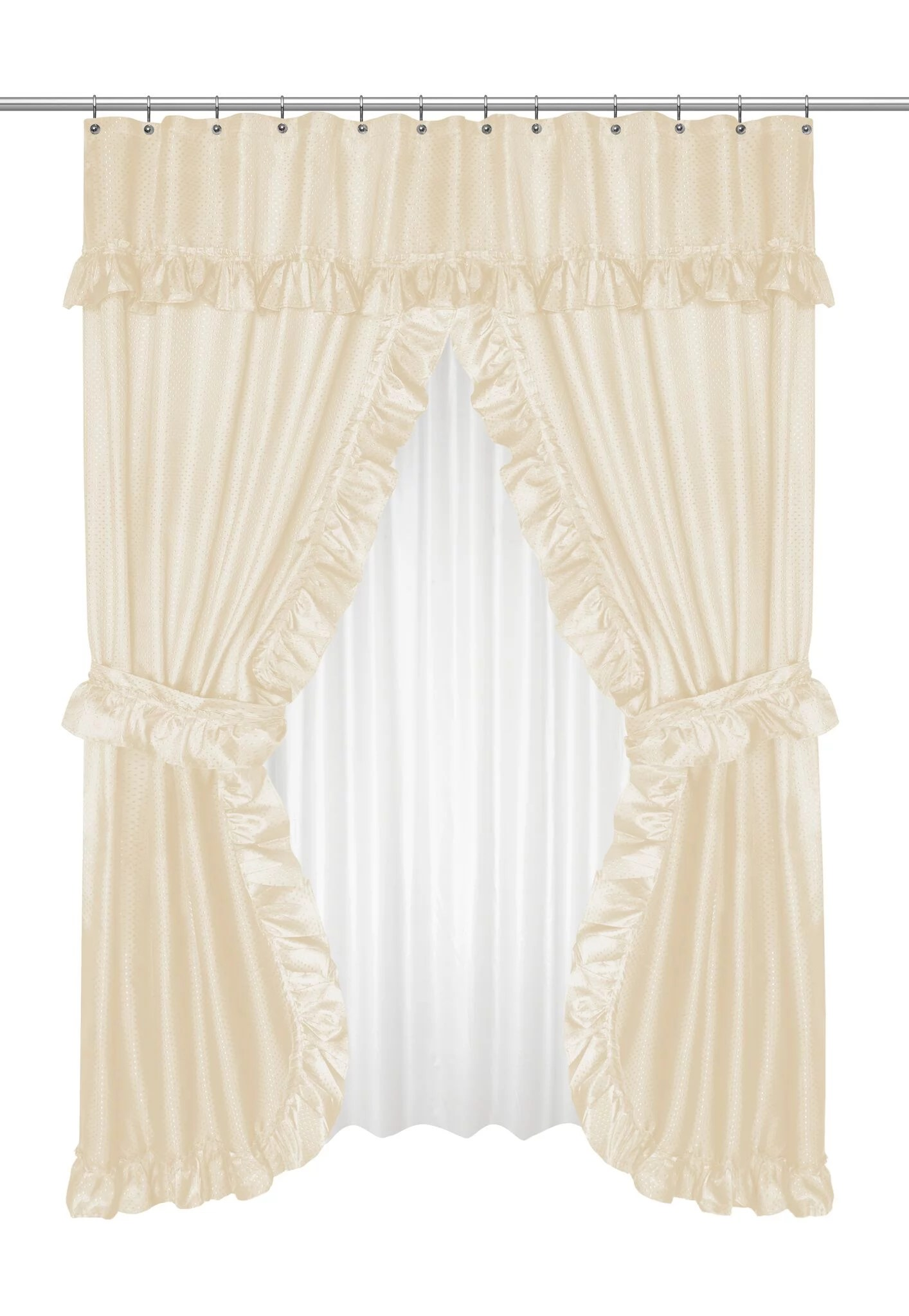 Goodgram Lauren Complete 5 Piece Attached Shower Curtain